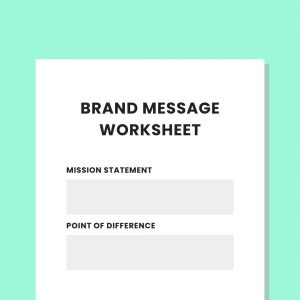 Brand Message Worksheet PL Private Practice