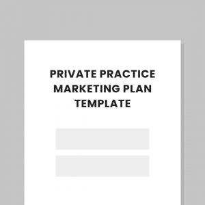 Private Practice Marketing Plan Template Practicelab