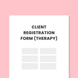 Therapy Client Registration Form Private Practice