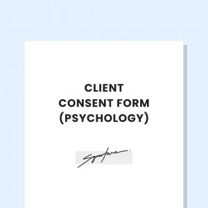client consent form private practice psychology