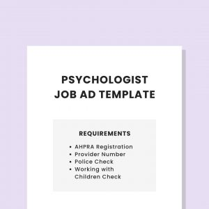 job ad template private practice psychologist pl
