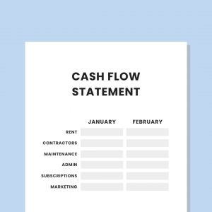private practice cash flow statement template